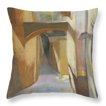 View Of Italian Arch Throw Pillow