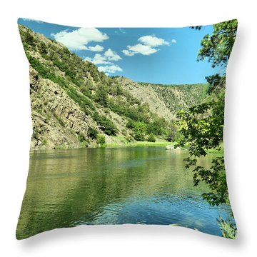 View Of The Gunnison River  Throw Pillow