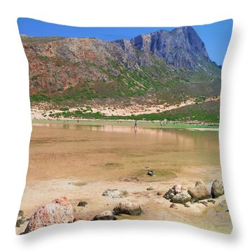 View To Gramvousa Throw Pillow