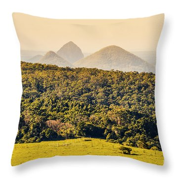 View To The Sunshine Coast Throw Pillow
