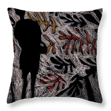 Viewing Matisse. Throw Pillow