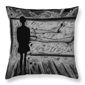 Viewing Supine Woman. Throw Pillow