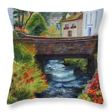 The Village Bridge Throw Pillow