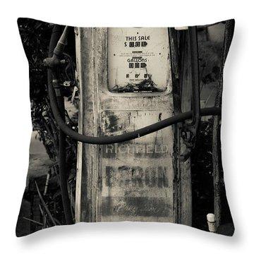 Vintage Antique Gas Pump Throw Pillow