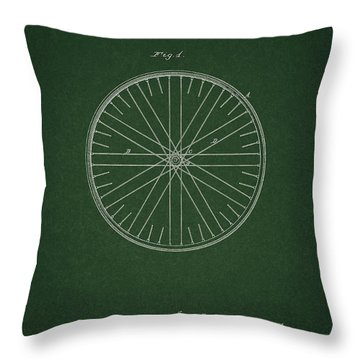Throw Pillow featuring the drawing Vintage Bicycle Tire Patent by Dan Sproul