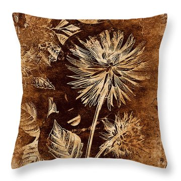 Vintage Blossom Throw Pillow