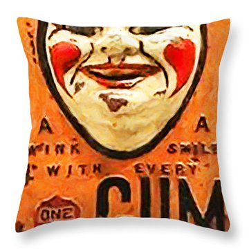 Throw Pillow featuring the photograph Vintage Gum Machine Penny Arcade Nostalgia 20181224 V2 by Wingsdomain Art and Photography