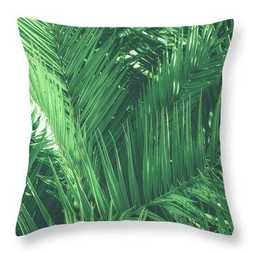 Vintage Palms I Throw Pillow