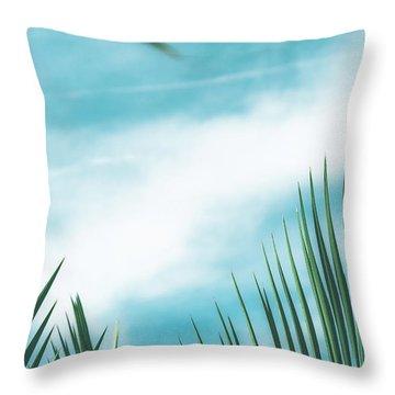 Vintage Palms II Throw Pillow