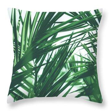 Vintage Palms IIi Throw Pillow