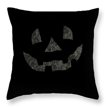 Vintage Pumpkin Face Throw Pillow