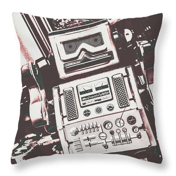 Vintage Robotics Throw Pillow