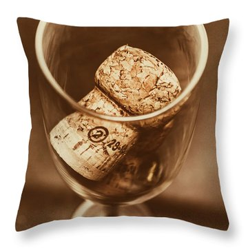 Vintage Vino Throw Pillow