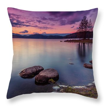 Violet Dusk Throw Pillow