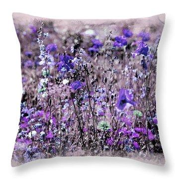 Violet Mood Throw Pillow