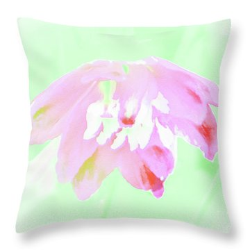 Violet Red Islamic Flora Throw Pillow
