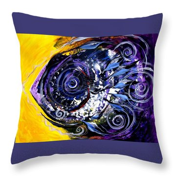 Violet Tri Fish Throw Pillow