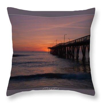 Virginia Beach Sunrise Throw Pillow