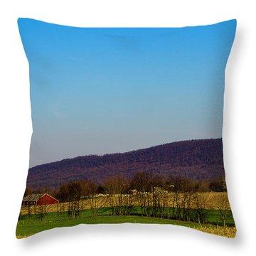 Virginia Mountain Landscape Throw Pillow