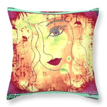 Visage De Lumiere Throw Pillow