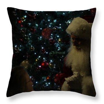 Visit With Santa Throw Pillow