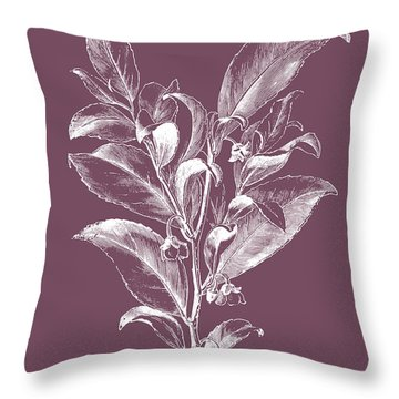 Visnea Mocanera Purple Flower Throw Pillow