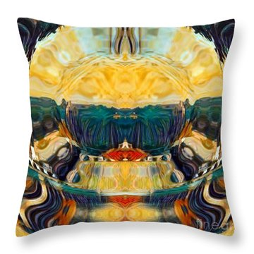 Throw Pillow featuring the digital art Volcano 2.0 by A zakaria Mami