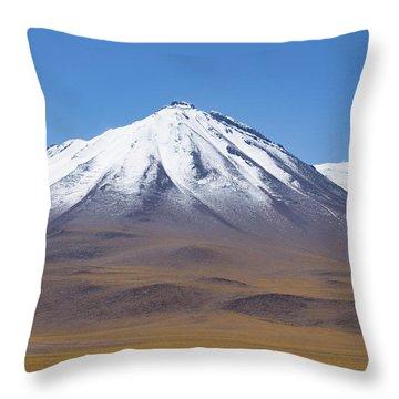 Volcano On The Altiplano Throw Pillow