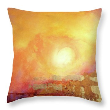 Throw Pillow featuring the painting Vortex Of Light by Valerie Anne Kelly