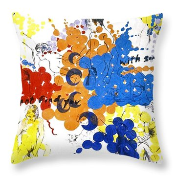 Throw Pillow featuring the painting Vulnerability  by Rene Capone