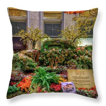 Vw Bug Planter Throw Pillow
