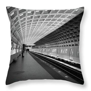 Waiting At Pentagon City Station Throw Pillow