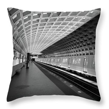 Waiting At Pentagon City Station Throw Pillow