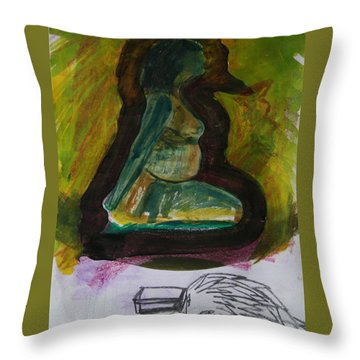 Waiting For Death Throw Pillow