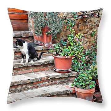 Throw Pillow featuring the photograph Waiting For Mom by Dorothy Berry-Lound