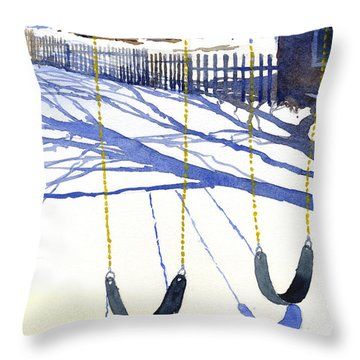 Waiting For Spring Throw Pillow