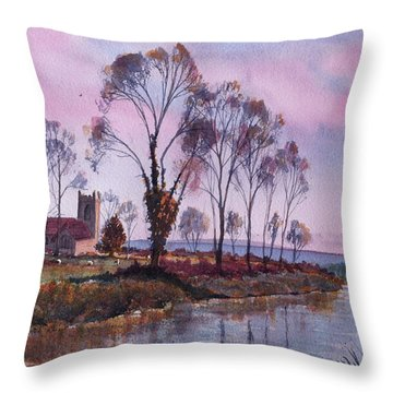 Waiting For Sunset Throw Pillow