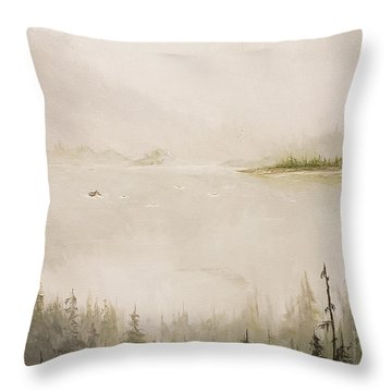Waiting For The Eagle To Come Throw Pillow