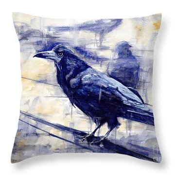 Waiting For The Lonely Train Throw Pillow