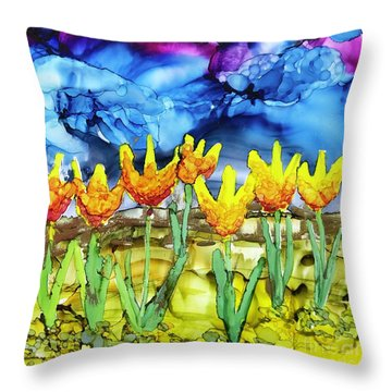 Waiting For The Rain Throw Pillow