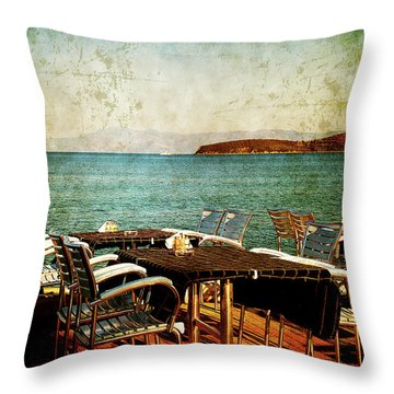 Throw Pillow featuring the photograph Waiting For The Right People by Milena Ilieva
