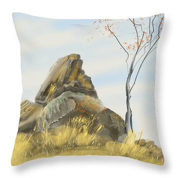 Waiting For Winter Throw Pillow