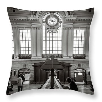Throw Pillow featuring the photograph Waiting Room by Steve Stanger