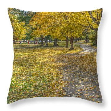 Walk In The Park @ Sharon Woods Throw Pillow