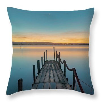 Throw Pillow featuring the photograph Walk Off by Bruno Rosa