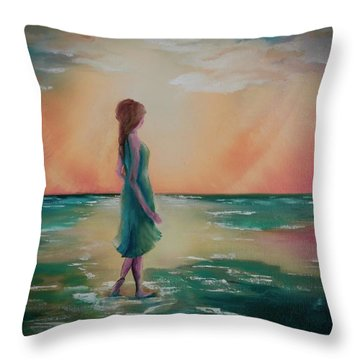 Walk Through Water Throw Pillow