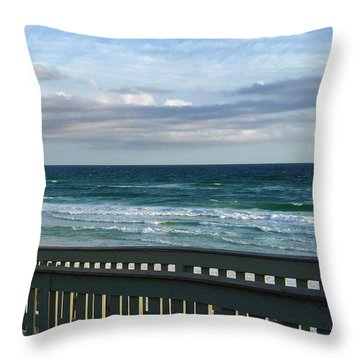 Walk With Me To The Beach Throw Pillow