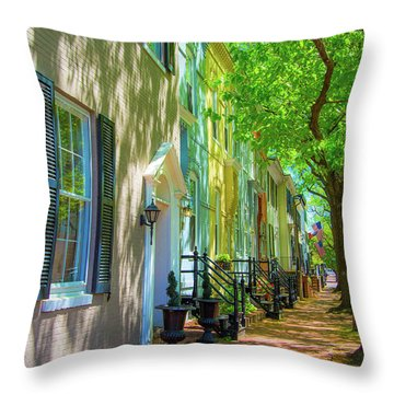 Walking On Duke Street Throw Pillow