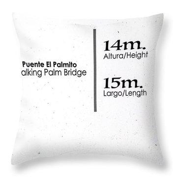 Walking Palm Bridge Sign Throw Pillow