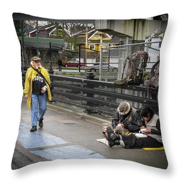 Walking-travellers Throw Pillow